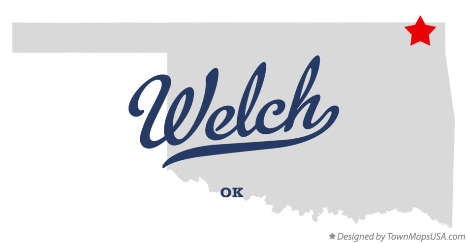 Map of Welch Oklahoma OK