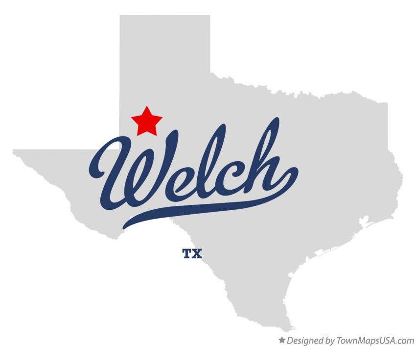 Map of Welch Texas TX