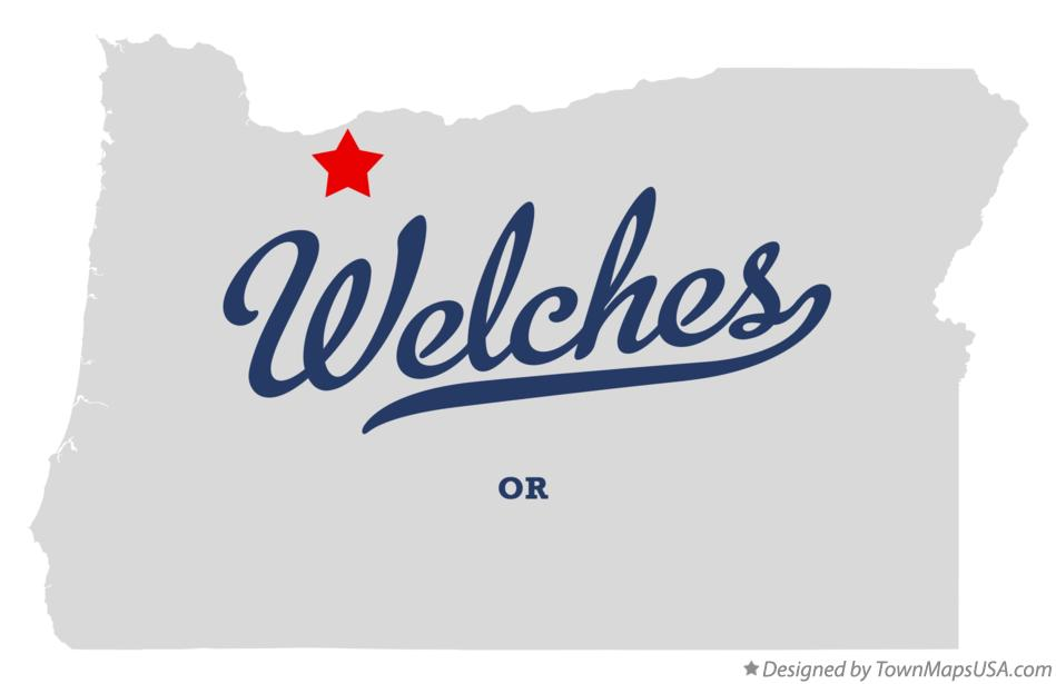 Map of Welches Oregon OR