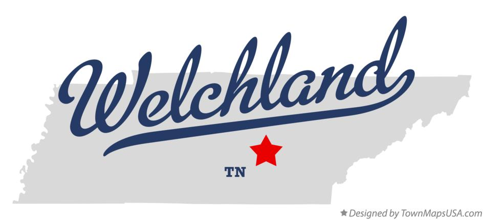 Map of Welchland Tennessee TN