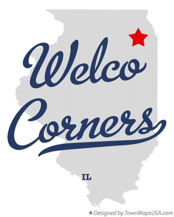Map of Welco Corners Illinois IL
