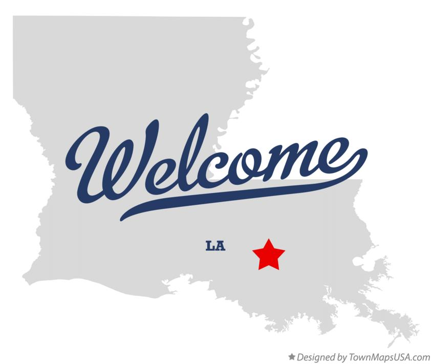 Map of Welcome Louisiana LA