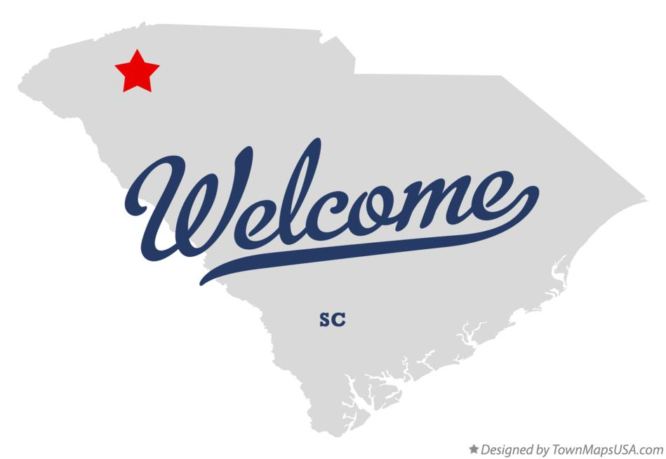 Map of Welcome South Carolina SC