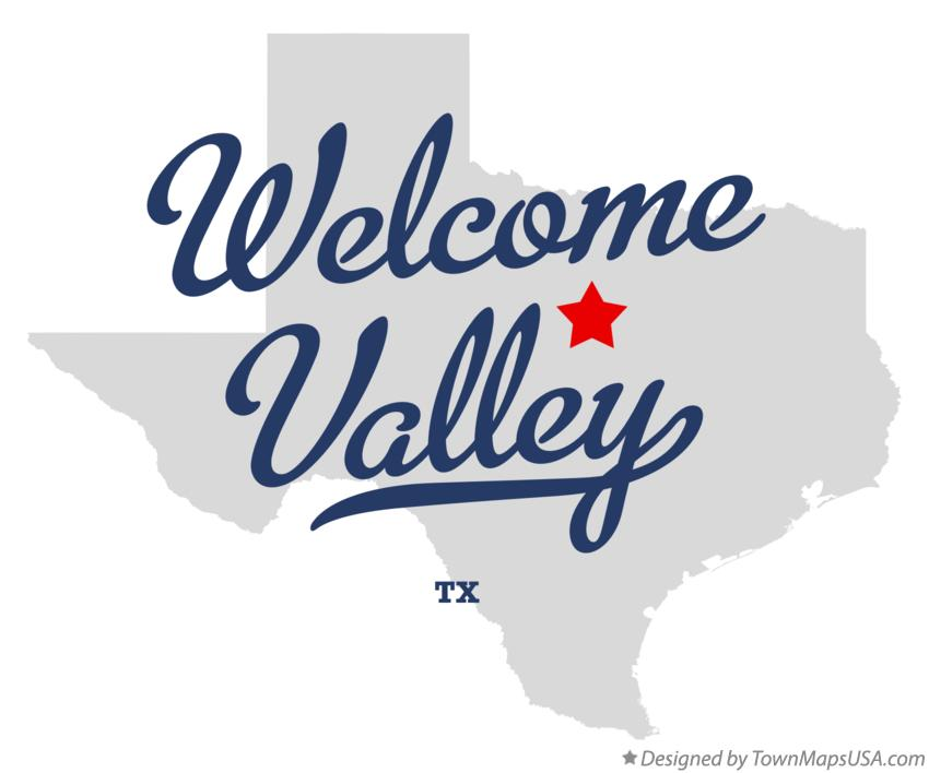 Map of Welcome Valley Texas TX