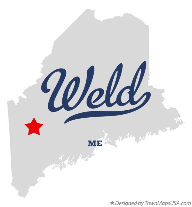 Map of Weld Maine ME