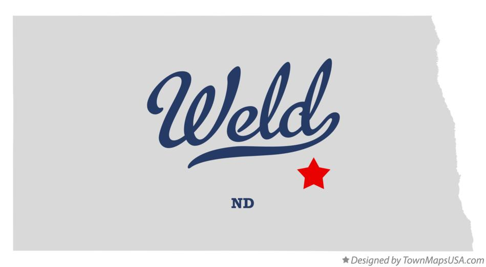 Map of Weld North Dakota ND