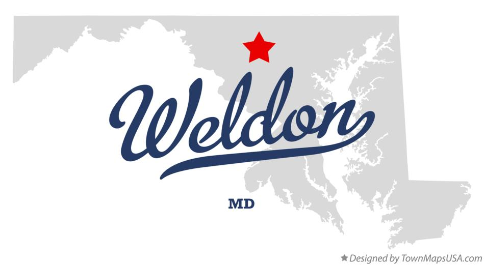 Map of Weldon Maryland MD