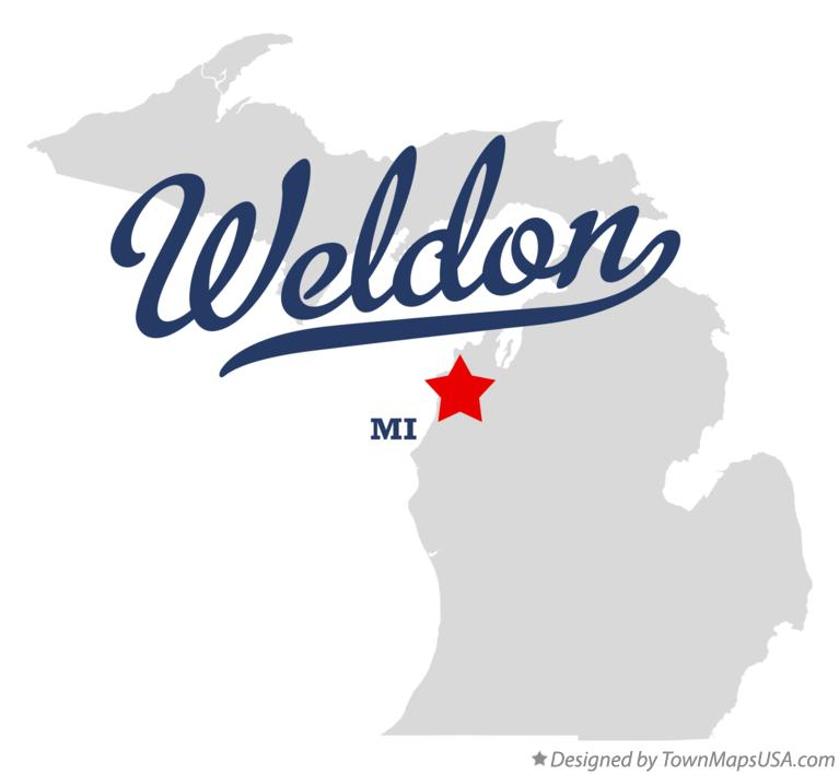 Map of Weldon Michigan MI