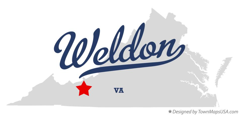 Map of Weldon Virginia VA