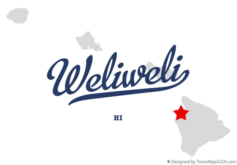 Map of Weliweli Hawaii HI