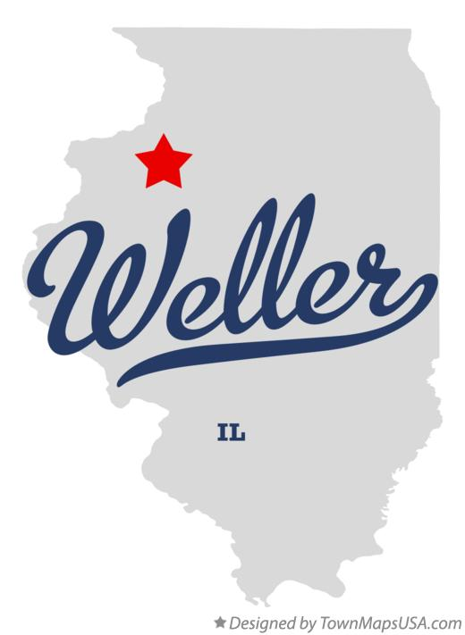 Map of Weller Illinois IL