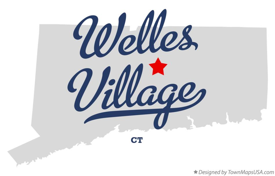 Map of Welles Village Connecticut CT