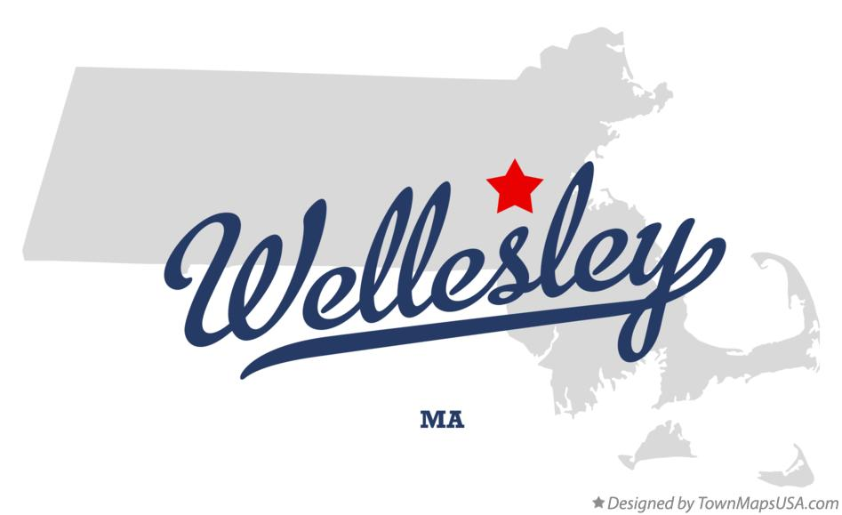 Map of Wellesley Massachusetts MA