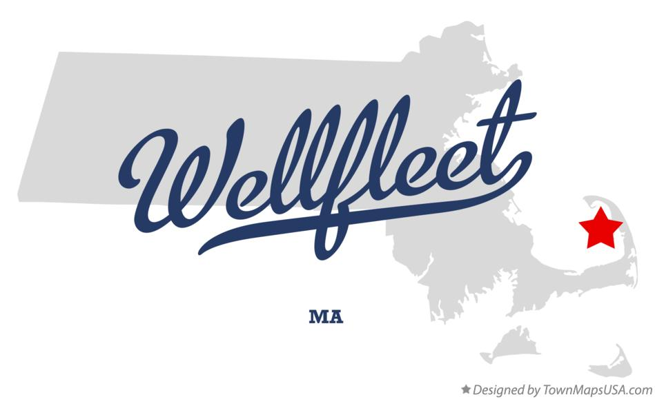 Map of Wellfleet Massachusetts MA