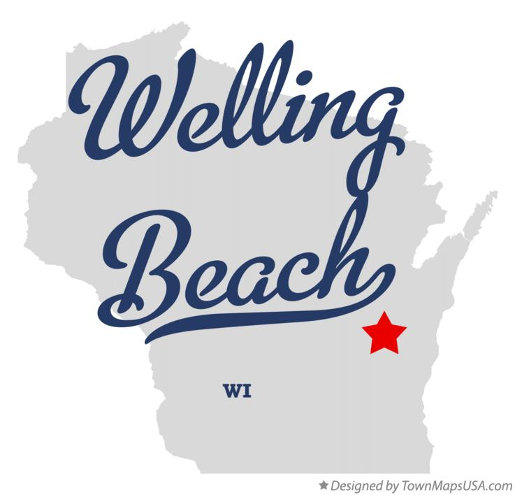 Map of Welling Beach Wisconsin WI