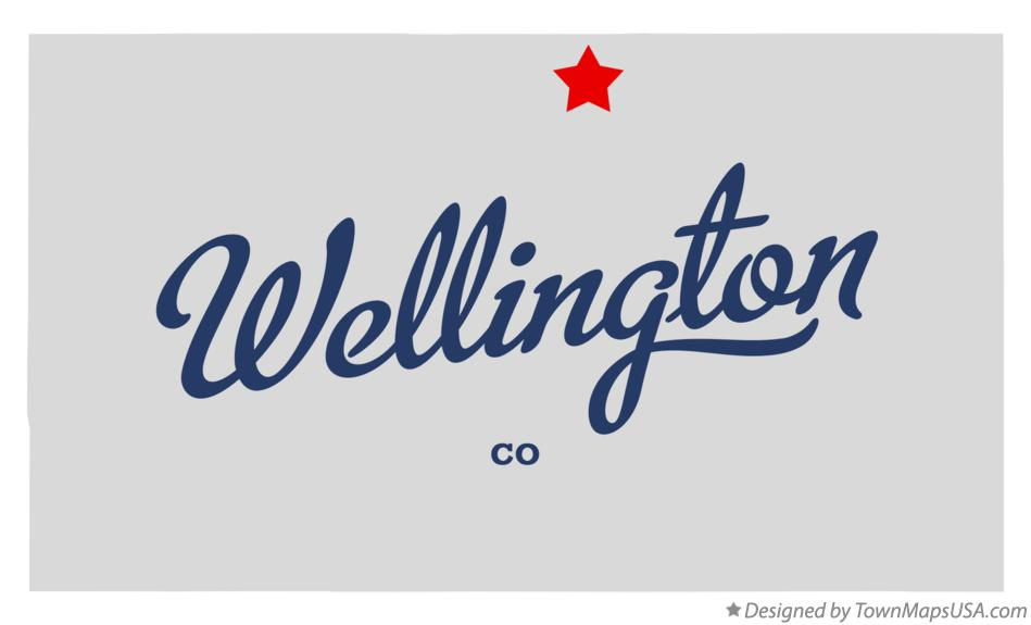 Map of Wellington Colorado CO