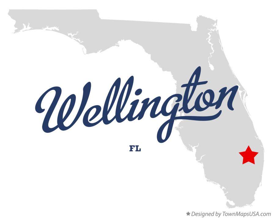 Map of Wellington, FL, Florida