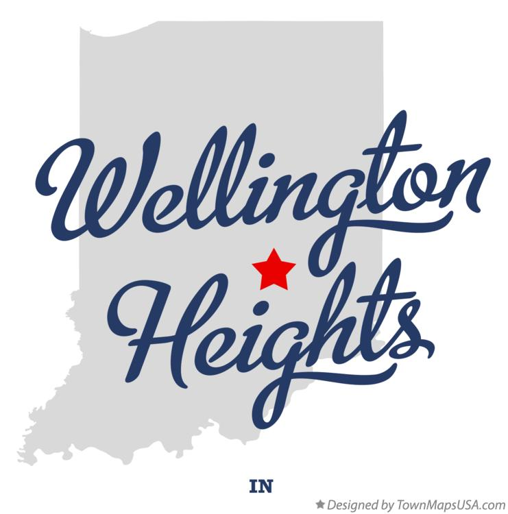 Map of Wellington Heights Indiana IN