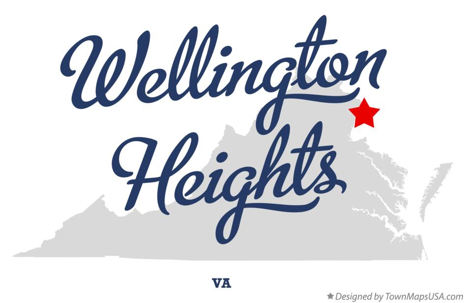 Map of Wellington Heights Virginia VA