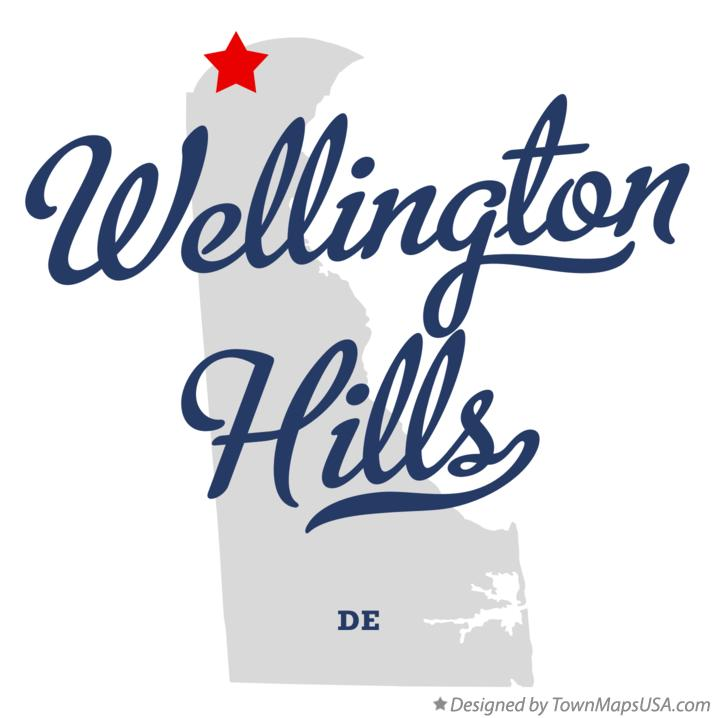 Map of Wellington Hills Delaware DE