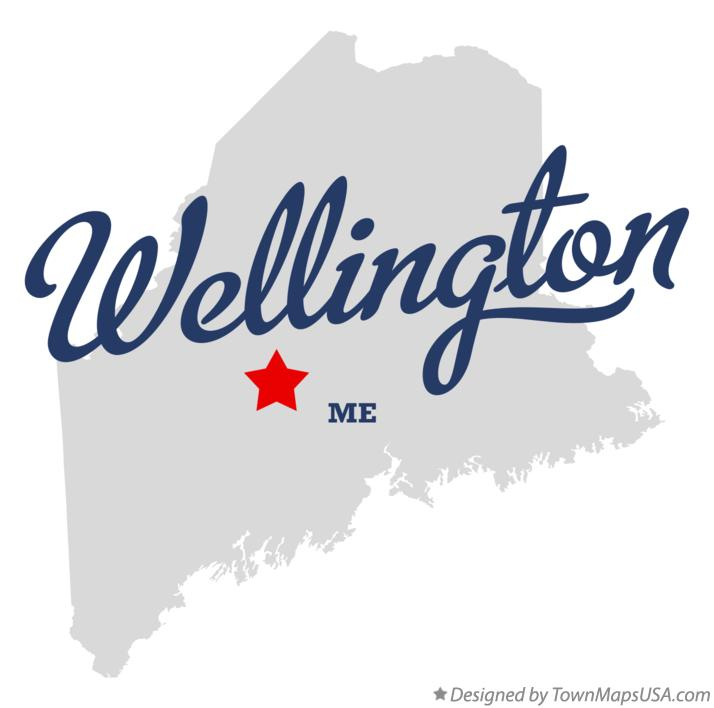 Map of Wellington Maine ME