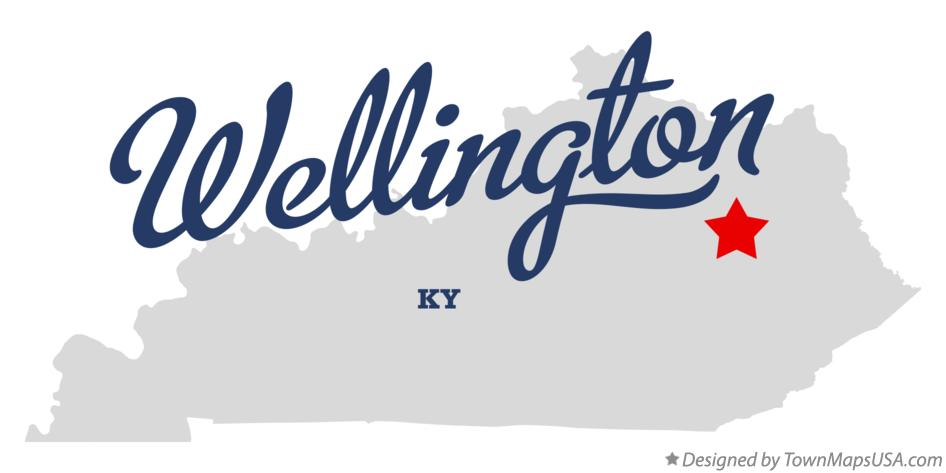 Map of Wellington Kentucky KY
