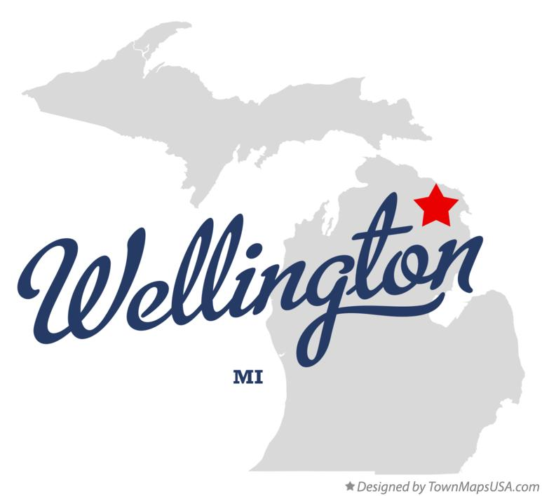 Map of Wellington Michigan MI