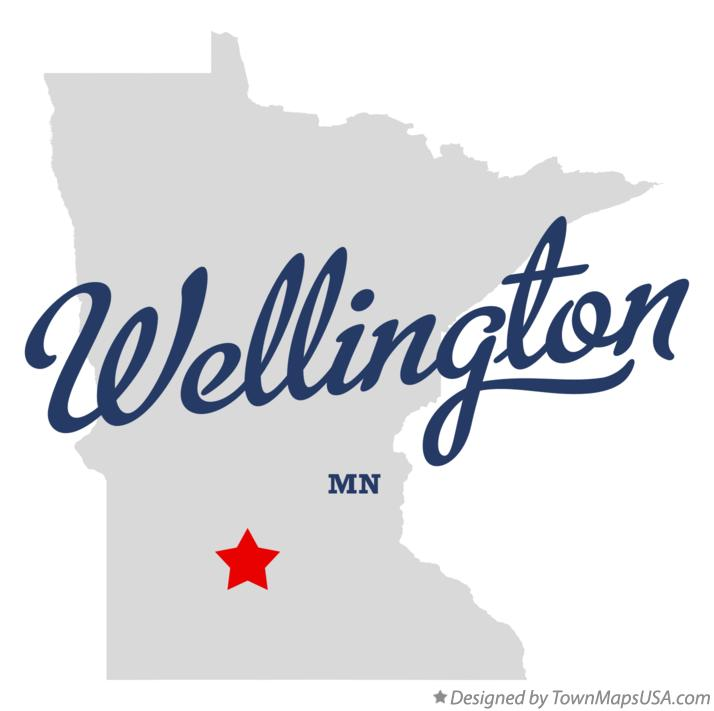 Map of Wellington Minnesota MN