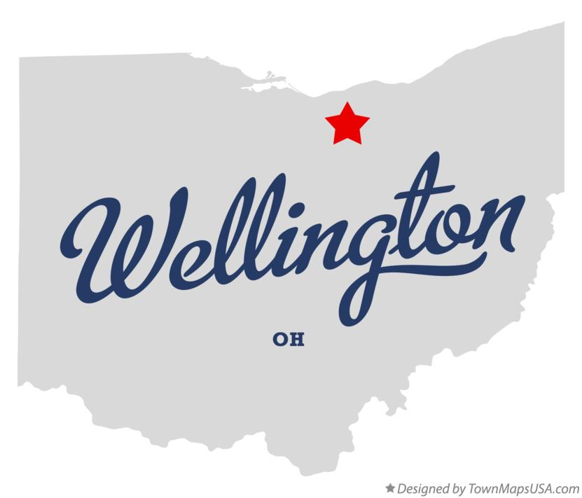 Map of Wellington Ohio OH