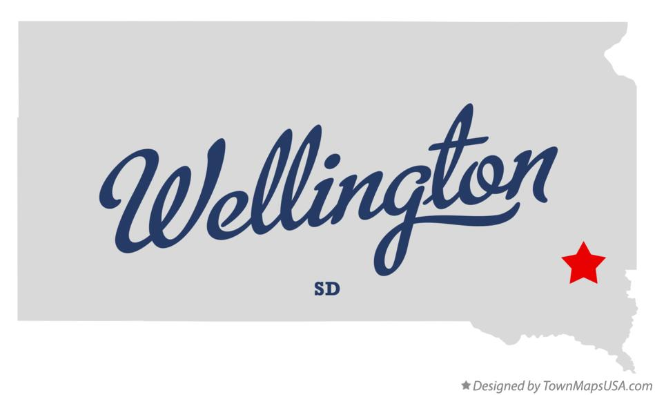 Map of Wellington South Dakota SD