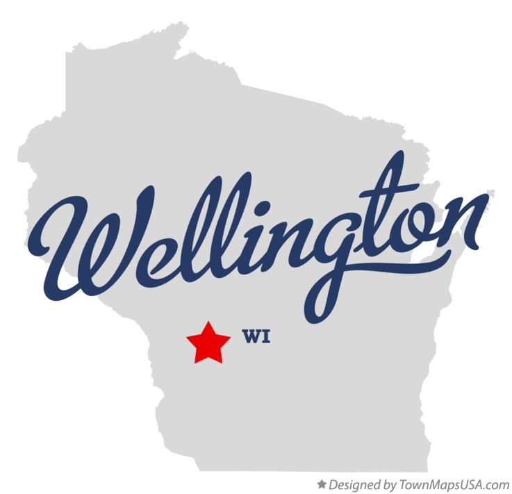 Map of Wellington Wisconsin WI