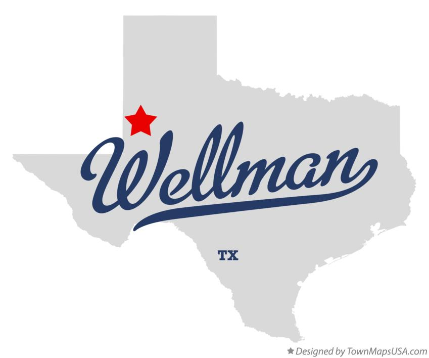 Map of Wellman Texas TX
