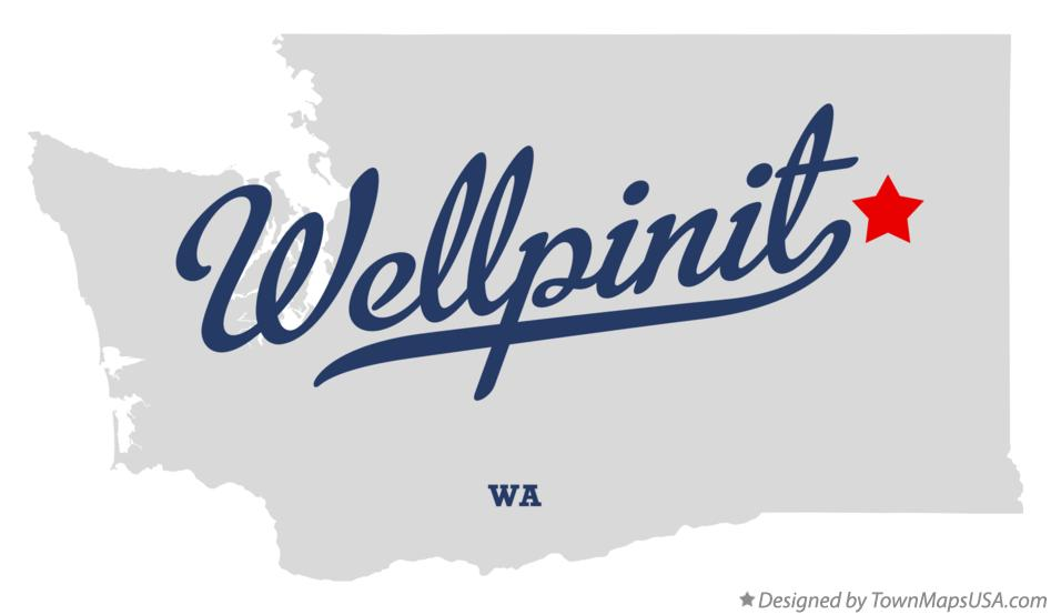 Map of Wellpinit Washington WA