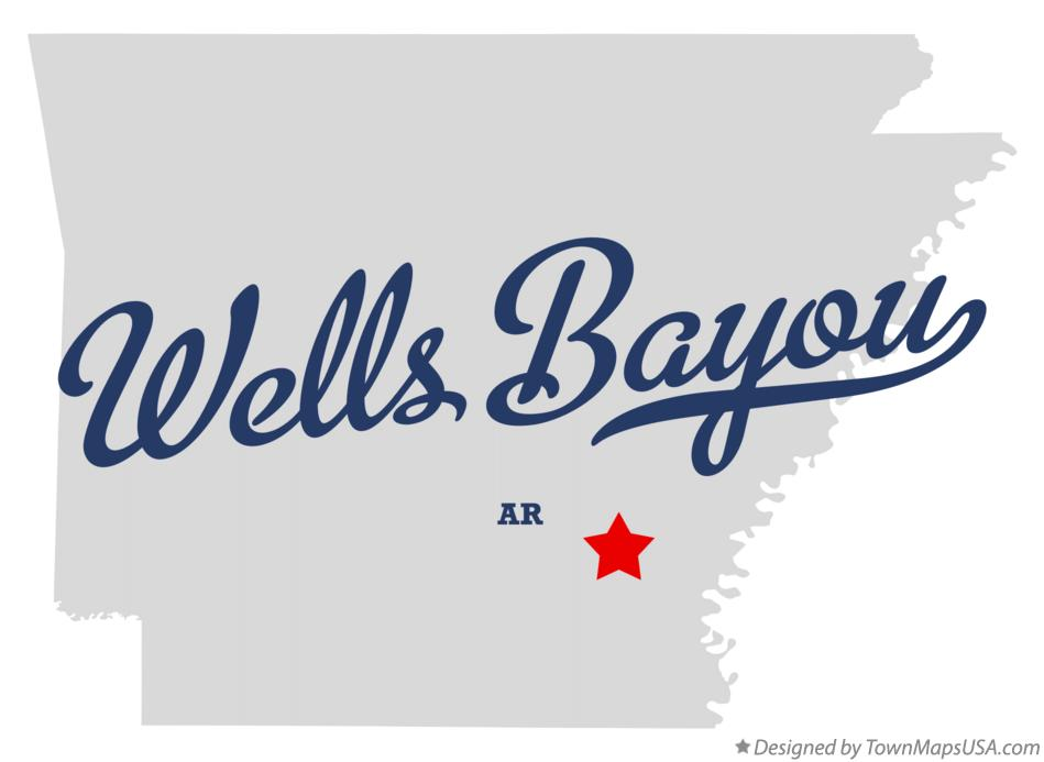 Map of Wells Bayou Arkansas AR