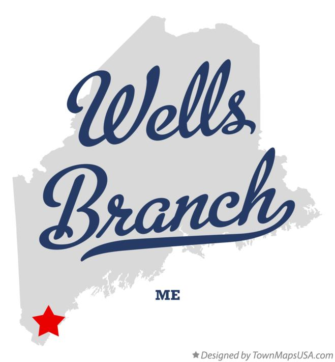 Map of Wells Branch Maine ME