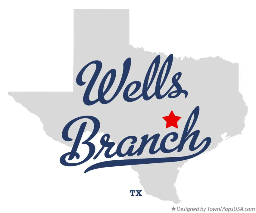 Map of Wells Branch Texas TX