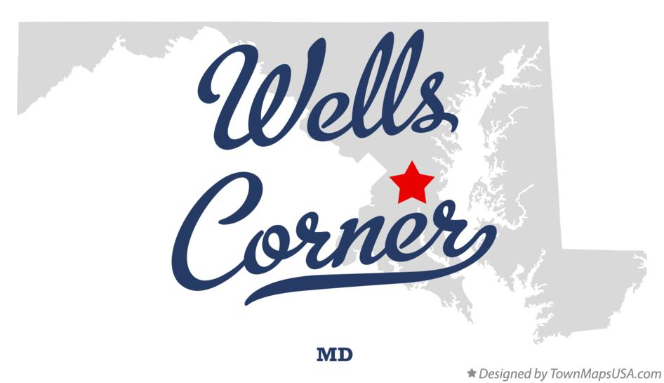 Map of Wells Corner Maryland MD
