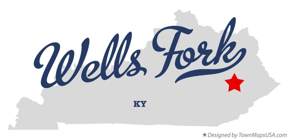Map of Wells Fork Kentucky KY