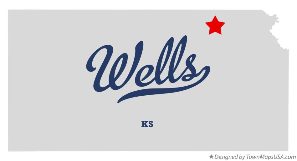 Map of Wells Kansas KS