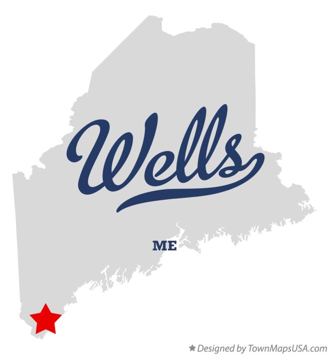 Map of Wells Maine ME
