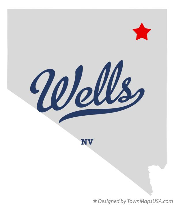 Map of Wells Nevada NV