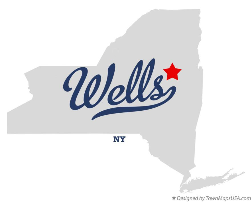 Map of Wells New York NY