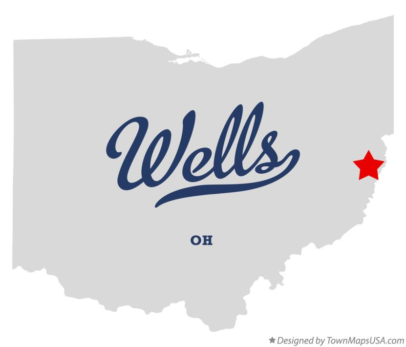 Map of Wells Ohio OH