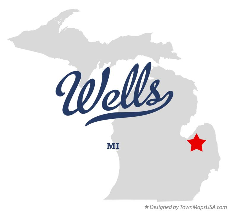 Map of Wells Michigan MI