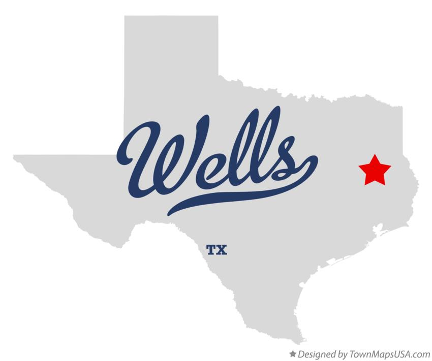 Map of Wells Texas TX