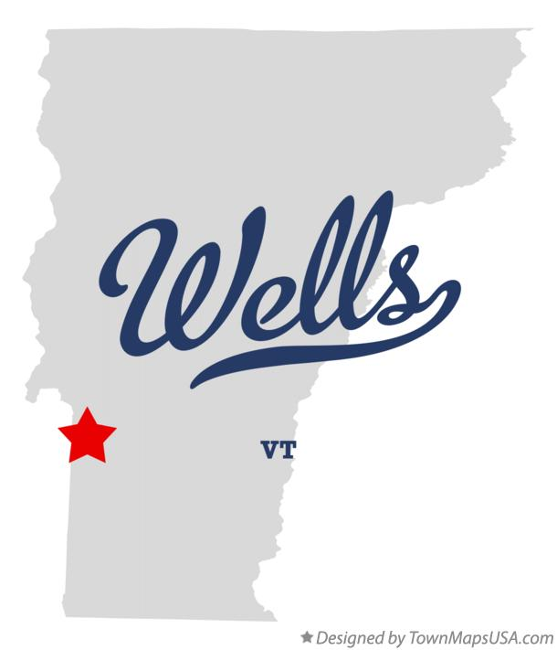 Map of Wells Vermont VT