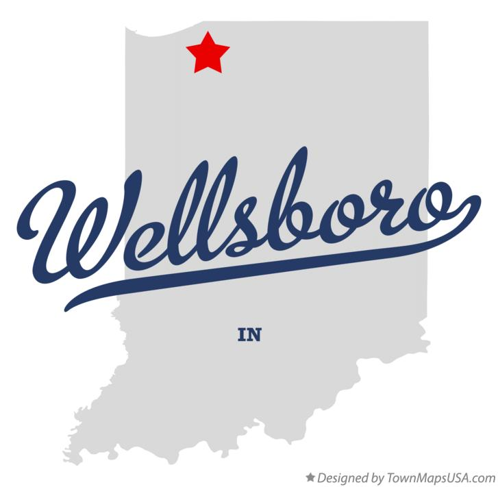 Map of Wellsboro Indiana IN