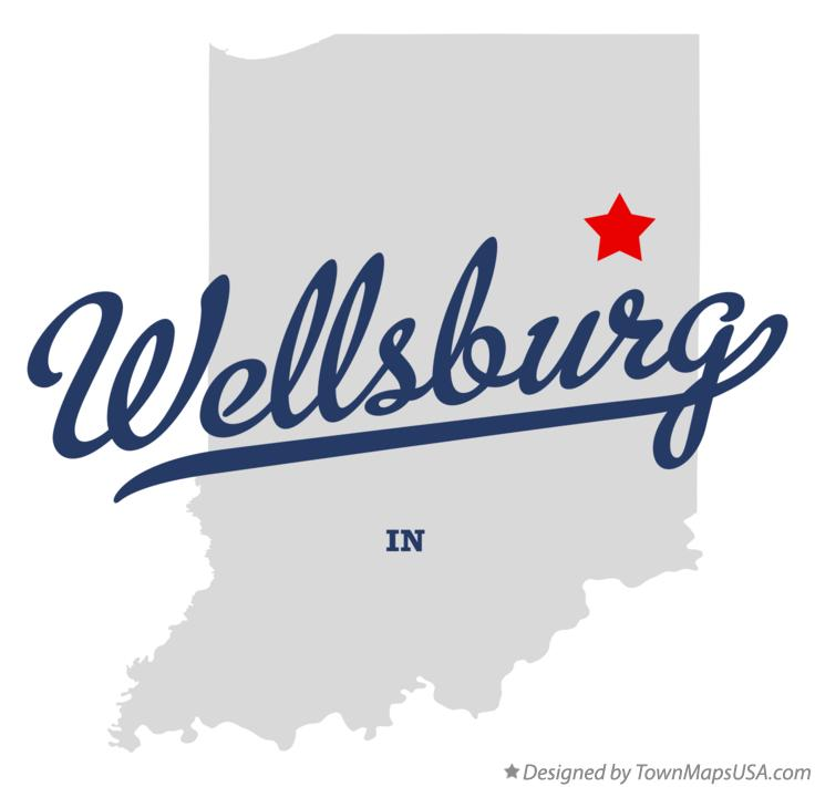 Map of Wellsburg Indiana IN