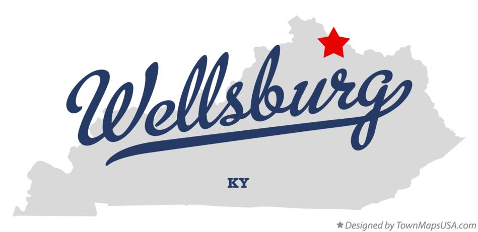 Map of Wellsburg Kentucky KY
