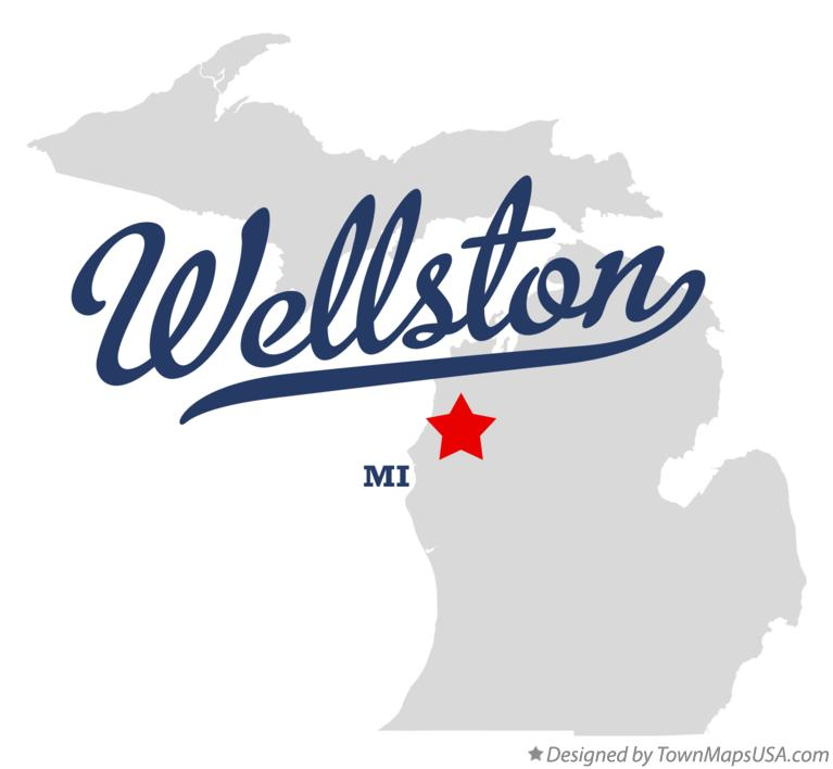 Map of Wellston Michigan MI